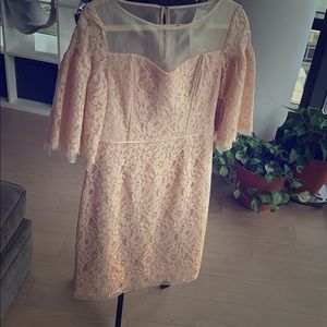 Gorgeous pale peach dress with bell sleeves